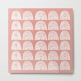Pink Boho Rainbows Metal Print