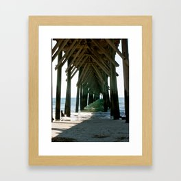 Under the Pier Framed Art Print