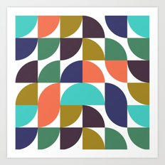 mod geo pattern Art Print