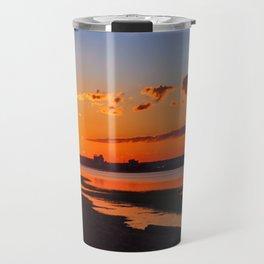 Orange Sunshine Sky Travel Mug