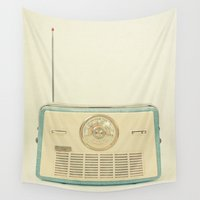 radio Wall Tapestries featuring Radio Days by Cassia Beck