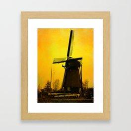 Dutch Windmill Framed Art Print