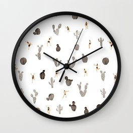 Black and white desert Wall Clock