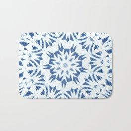 Snowflake Denim & White Bath Mat