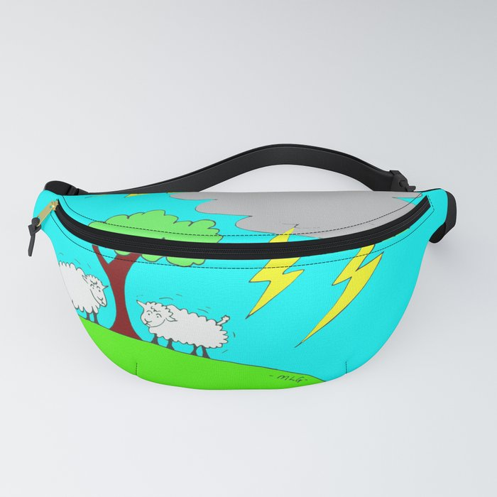 Two Little Sheep Under the Weather Fanny Pack