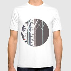 birch trees White Mens Fitted Tee SMALL
