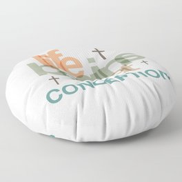 Life Begins At Conception Floor Pillow