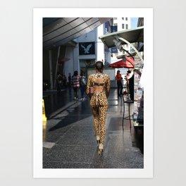 Panther woman Hollywood Art Print