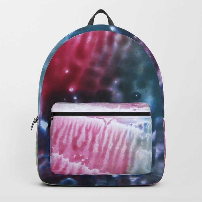 abstract composition of red and blue colours 2 Backpack