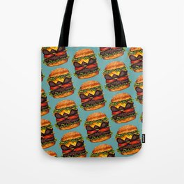 Double Cheeseburger Pattern Tote Bag