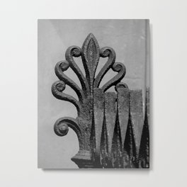 Spiked Iron Metal Print
