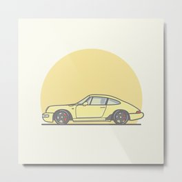 Porsche 911 964 vector illustration Metal Print