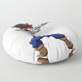 This Pirat is 4 Years Dabbing Theme Floor Pillow