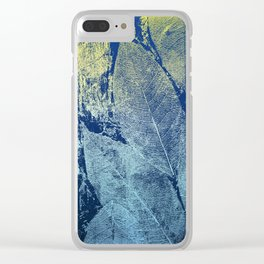 Whispering Leaves Clear iPhone Case