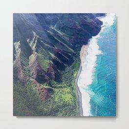 Hidden Beach In Heavenly Tropical Paradise Metal Print