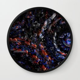 circles, rotation, red, blue, swirling, spiral, shapea Wall Clock