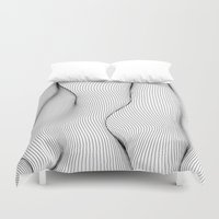 lines Duvet Covers featuring Lines by Line Line Lines