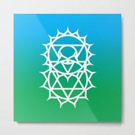 Heart & Throat Chakra Intersection Metal Print