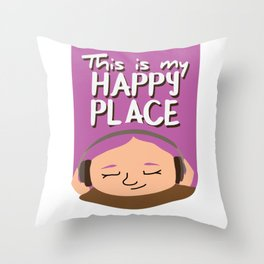 This is my happy place - Music Throw Pillow