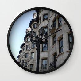 Rowhouses, Boston Wall Clock