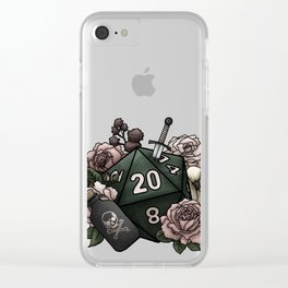 Rogue Class D20 - Tabletop Gaming Dice Clear iPhone Case