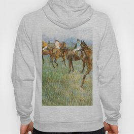 Jockeys In The Rain 1886 By Edgar Degas   Reproduction   Famous French Painter Hoody