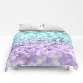 Aqua Purple MERMAID Girls Glitter #1 #shiny #decor #art #society6 Comforters