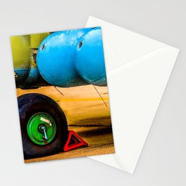 Landing Wheel Of A Military Attack Helicopter Stationery Cards