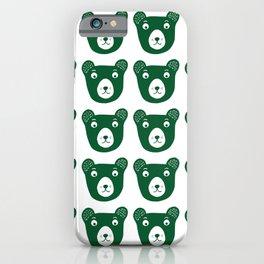 Dark green bear illustration iPhone Case