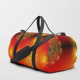 Golden mandala with lantern Duffle Bag