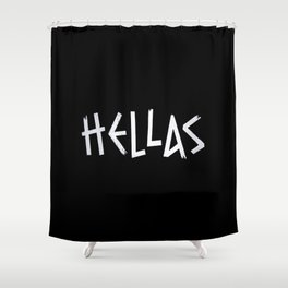 Retro Vintage Hellas Greece Greek Gift Shower Curtain