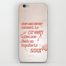 Soar - Illustrated quote of Helen Keller iPhone & iPod Skin