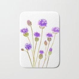 purple thorny wildflower Bath Mat