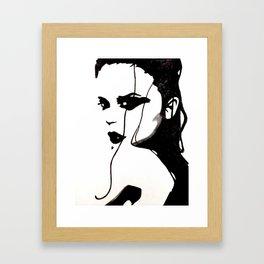 Dark Woman Framed Art Print