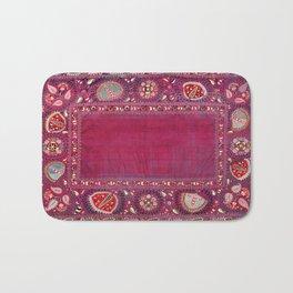 Shakhrisyabz  Southwest Uzbekistan Suzani Embroidery Print Bath Mat