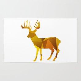 Deer - Gold Geomatric Rug