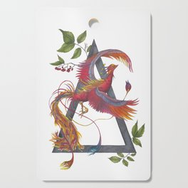 Phoenix Rising - The Alchemy of Fire Cutting Board