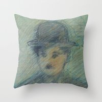 charlie Throw Pillows featuring Charlie by SliackyJo