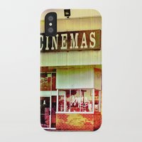 cinema iPhone & iPod Cases featuring Abandoned Cinema by Elina Cate
