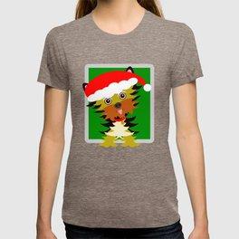 Christmas Yorkshire Terrier Cartoon T-shirt