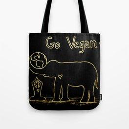 Black and Gold Go Vegan Tote Bag