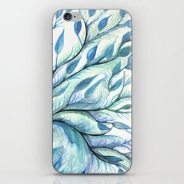 Tree of Life (blues) iPhone Skin