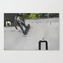 Up the Ramp  - Skateboarder Canvas Print