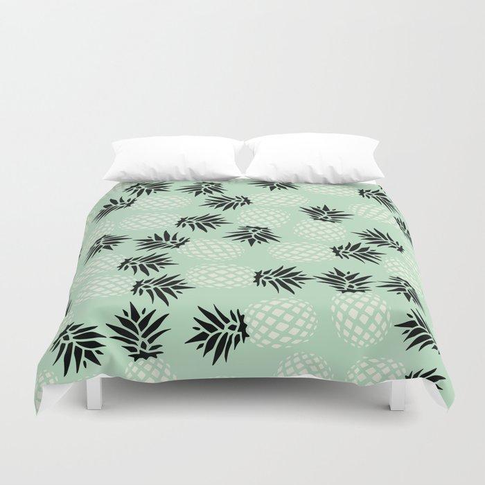 Mint Pineapple Pattern 023 Duvet Cover