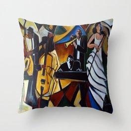 The Jazz Group Throw Pillow