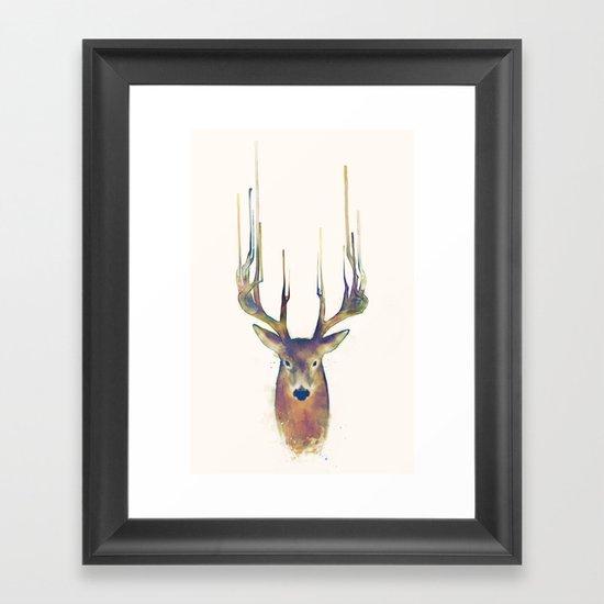 Deer // Steadfast Framed Art Print