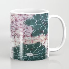 Large dahlias in green and purple colourway. Coffee Mug