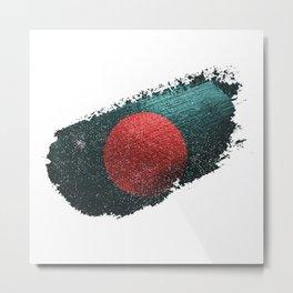 Flag Of Bangladesh Distressed Metal Print