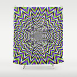 Starry Pulse Shower Curtain