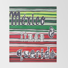 Mexican Zarape Throw Blanket
